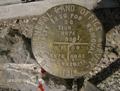 a boundry survey marker